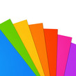 canvas print picture - Colorful rainbow Blank A4 paper sheet range on white background