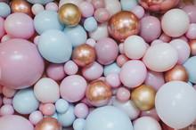 Multi-colored Balloons As A Ba...