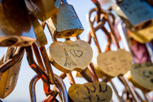 Love Paris Padlocks Hanging On...