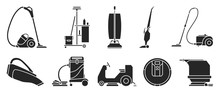 Vacuum Cleaner Black Vector Il...