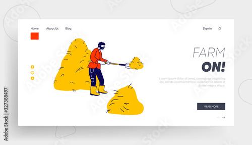 Fényképezés Agriculture Website Landing Page