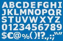 English Alphabet Numbers, Punc...