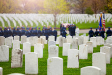 US Burial Procession With Sold...