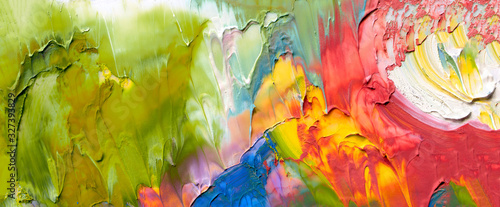 Cuadros en Lienzo Abstract acrylic and watercolor smear blot painting