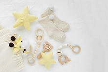 Knitted Toy Giraffe, Yellow St...