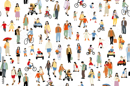 Photo Many  people vector illustration