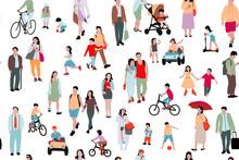Crowd Of People  Illustration,...