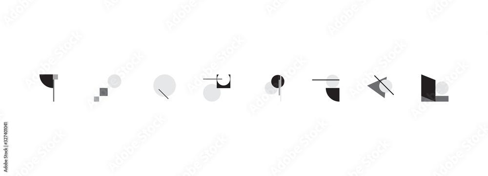 Fototapeta Bauhaus Abstract Vector Composition Design