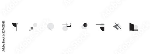 Fotografia Bauhaus Abstract Vector Composition Design