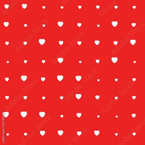 Cute Valentine hearts seamless pattern Wallpaper Mural