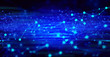 Leinwandbild Motiv network social online, background 3d illustration rendering, machine deep learning, data cloud storage digital, science neuron, plexus cell brain, futuristic connecting, technology system