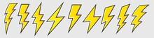 Lightning Bolt Icon Set, Energ...