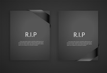 Mourning Frame, Funeral Gray D...