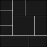 Szablony kolaży fotograficznych dziewięć ramek na zdjęcia i zdjęcia, kolaż zdjęć, puzzle. Ilustracji wektorowych. Nowoczesna makieta minimalistycznej tablicy nastrojów - 327411401