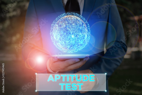 Writing note showing Aptitude Test Wallpaper Mural