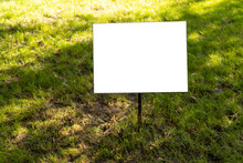 Empty Sign On The Lawn Whith I...