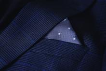 Men's Pocket Square Close Up.