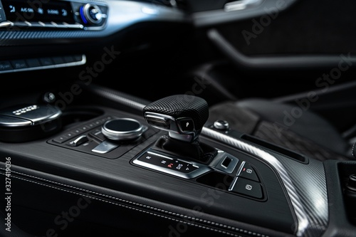 fototapeta na ścianę Automatic gearbox lever shifter. Car interior