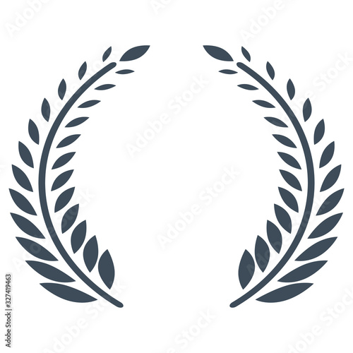 Olive branches vector icon for award ceremony Canvas-taulu