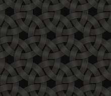 Black Seamless Pattern Of Brai...