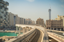 View From Modern Monorail Trai...