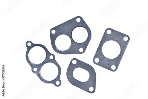 Cuadros en Lienzo gasket set of automotive paronite exhaust and intake manifold with metal inserts