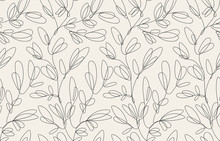 Seamless Floral Pattern With O...