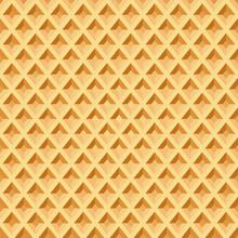 Waffle Seamless Pattern. Baked...
