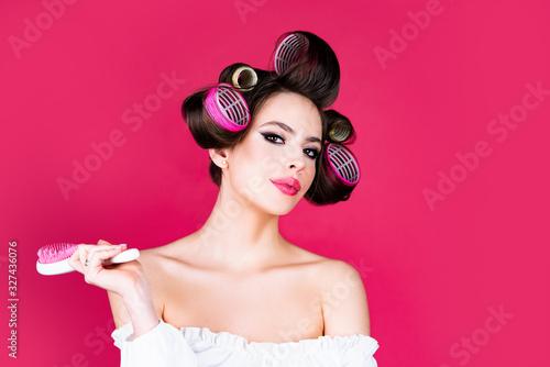 Hair curlers Canvas Print
