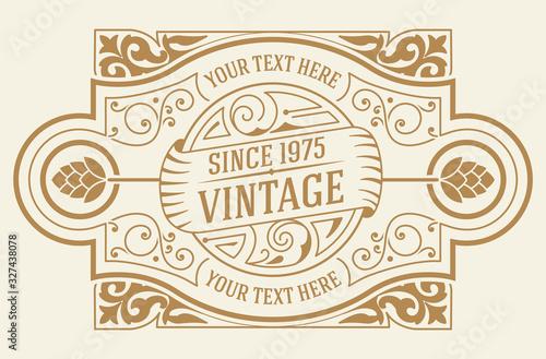 Obraz Vintage logo template. Vector layered - fototapety do salonu