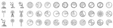 Radar Icons. Set Of Radar Screen Icons - Vector.