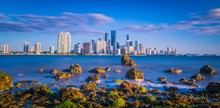 Miami City Water Skyline Sunri...