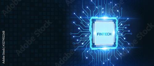 Cuadros en Lienzo Fintech -financial technology concept