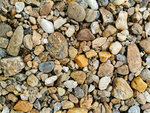 Top View Of Pebbles Texture Ba...