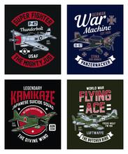 Vintage World War 2 Fighter Pl...