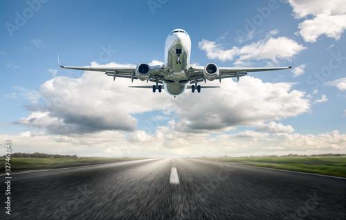Airplane Landing Wallpaper Mural