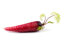 Red Carrot With Leaves