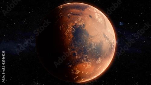 Vászonkép Orbiting Planet Mars. High quality 3d illustration