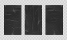 Wet Crumpled Black Sheets