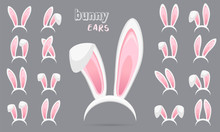 Easter Rabbit Ears Stickers Co...