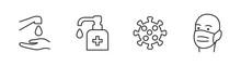 Hygiene Vector Icon Set. Virus...
