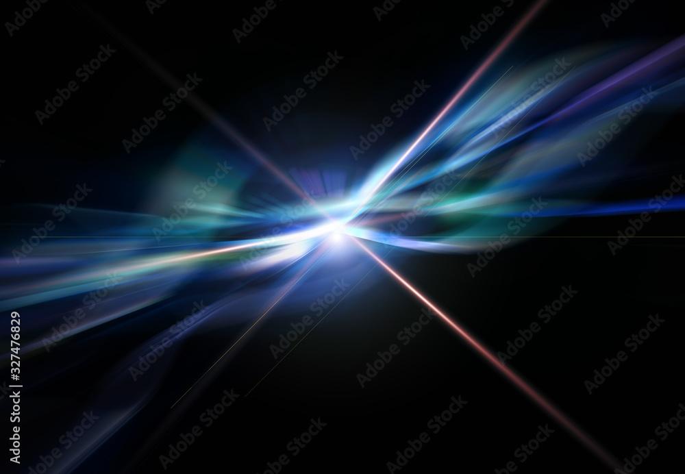 Fototapeta 輝く放射光と放射線のアブストラクトのグラフィックス