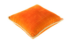 Velvet Orange Pillow