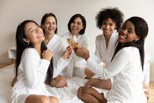 Portrait Happy Diverse Women C...