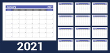 2021 Calendar. English Planner...