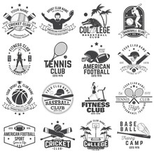 Set Of American Football, Fitn...