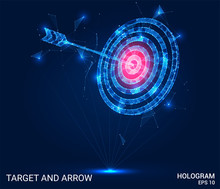 Hologram Arrow And The Target....