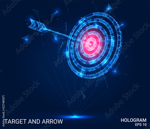 Hologram arrow and the target Canvas Print
