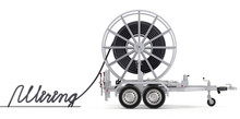Cable Drum With Trailer And Te...