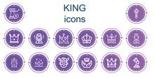 Editable 14 King Icons For Web And Mobile